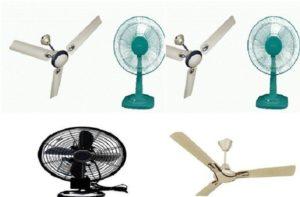 Difference between table fan and ceiling fan