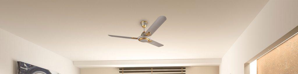 Working of ceiling fan