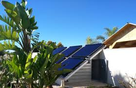 Solar water heating system working